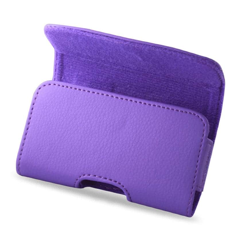 HORIZONTAL POUCH HP102C APPLE IPHONE 4G PLUS PURPLE CELL PHONE WITH COVER