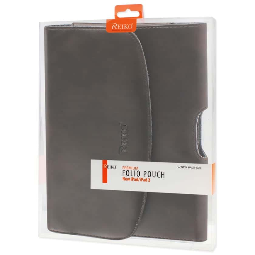 SMOOTH HORIZONTAL LEATHER POUCH IN BROWN
