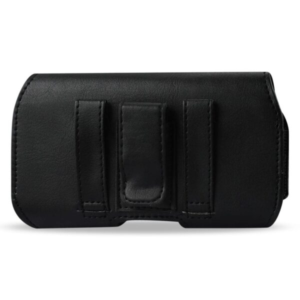 HORIZONTAL Z LID LEATHER POUCH IPHONE4 PLUS BLACK