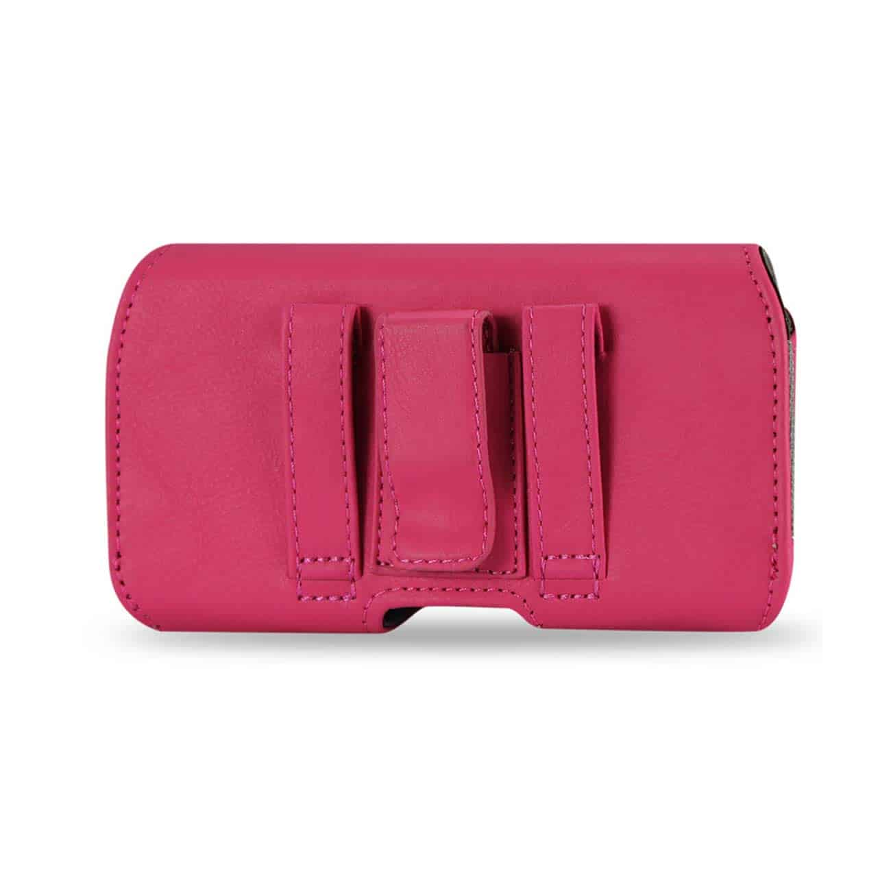HORIZONTAL Z LID LEATHER POUCH IPHONE4 PLUS HOT PINK