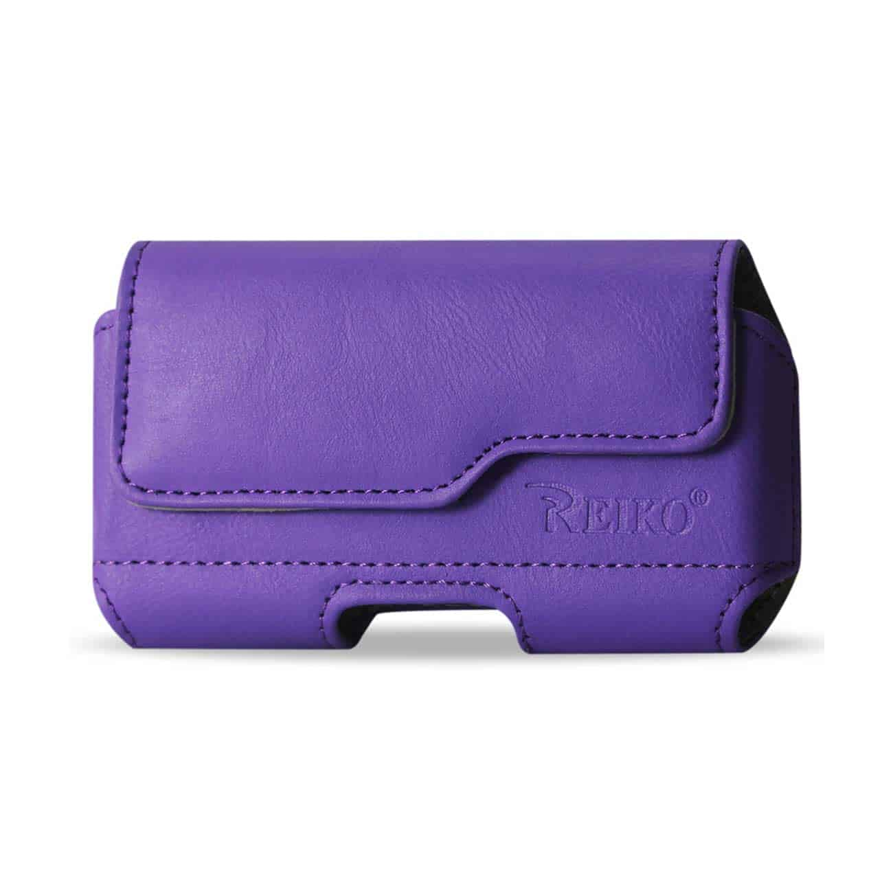 HORIZONTAL Z LID LEATHER POUCH IPHONE4 PLUS PURPLE