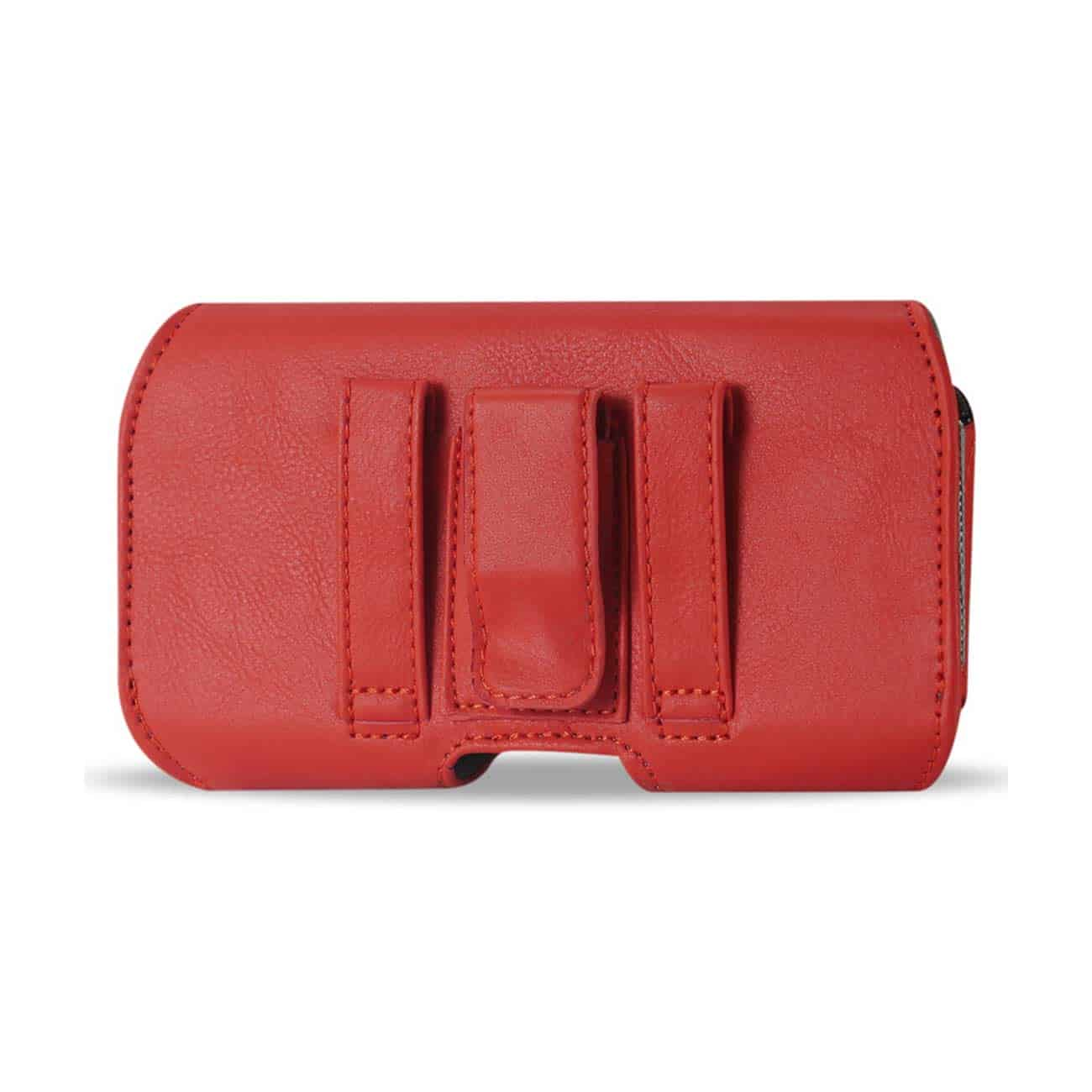 HORIZONTAL Z LID LEATHER POUCH SAMSUNG GALAXY S3/ I9300/ R53 X PLUS RED