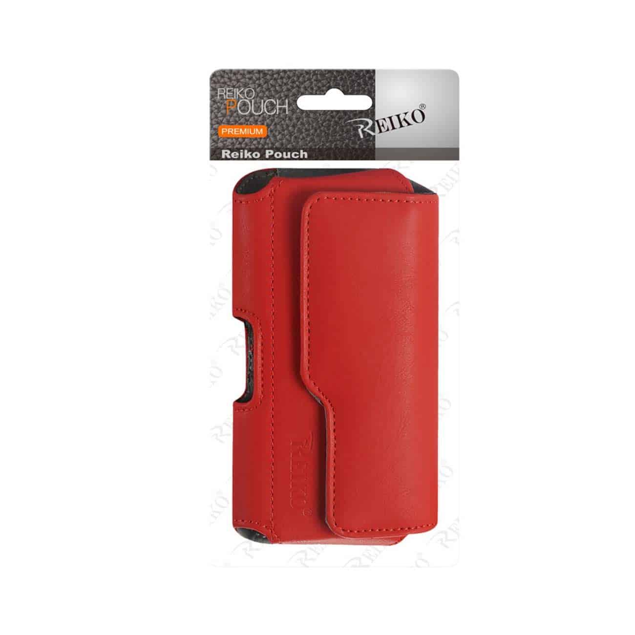 HORIZONTAL Z LID LEATHER POUCH SAMSUNG GALAXY S3/ I9300/ R53 X PLUS RED