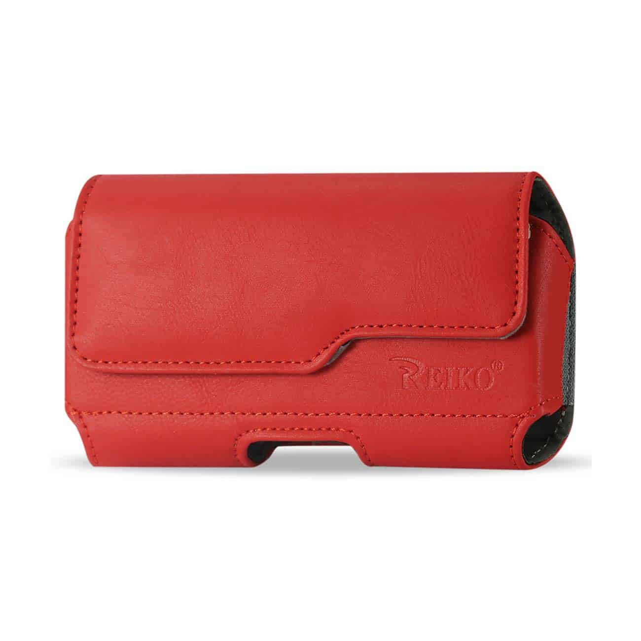 HORIZONTAL Z LID LEATHER POUCH SAMSUNG GALAXY NOTE 3 IN RED (6.5X3.62X0.71 INCHES PLUS)