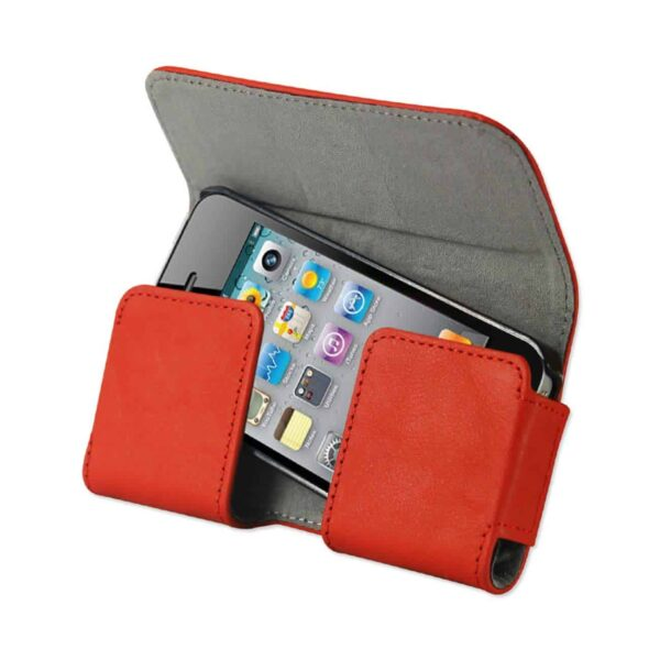 HORIZONTAL POUCH WITH EASY TAKE OUT DESIGN IPHONE4 PLUS ORANGE