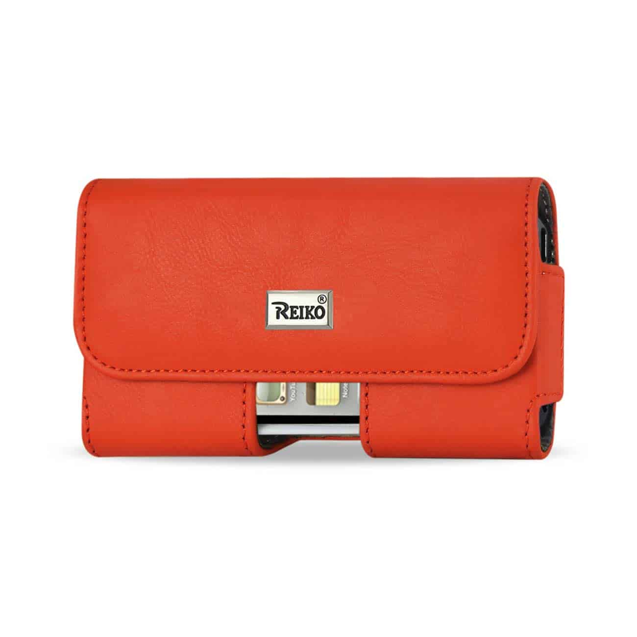 HORIZONTAL POUCH WITH EASY TAKE OUT DESIGN SAMSUNG GALAXY S III I9300 PLUS ORANGE