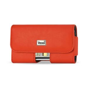 HORIZONTAL POUCH IPHONE5 PLUS ORANGE CELL PHONE WITH COVER