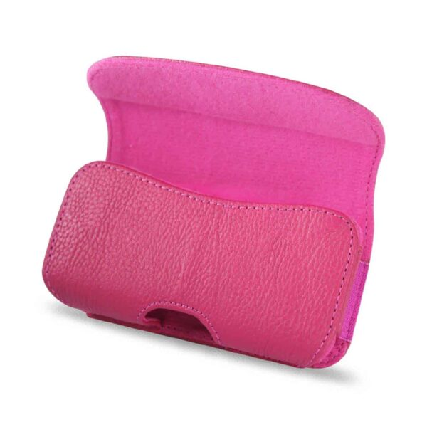HORIZONTAL POUCH HP18A IPHONE 4G PLUS HOT PINK CELL PHONE WITH COVER