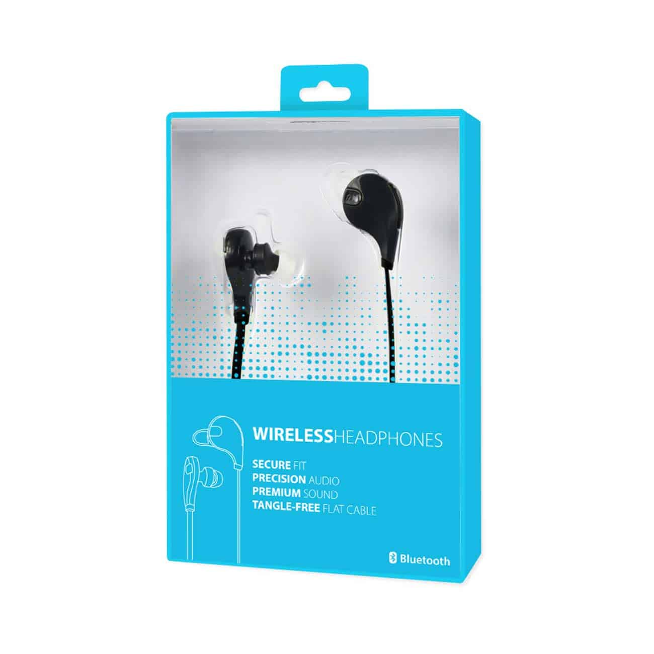 WIRELESS IN EAR HEADPHONES UNIVERSAL BLUETOOTH IN BLACK