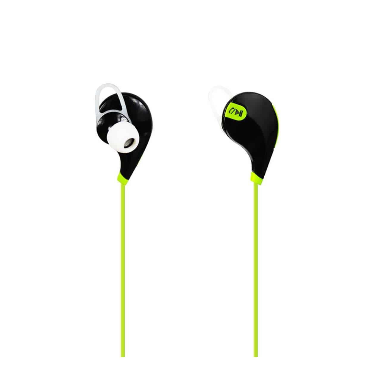 WIRELESS IN EAR HEADPHONES UNIVERSAL BLUETOOTH IN GREEN BLACK