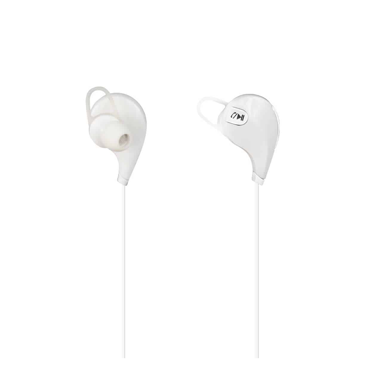 WIRELESS IN EAR HEADPHONES UNIVERSAL BLUETOOTH IN WHITE