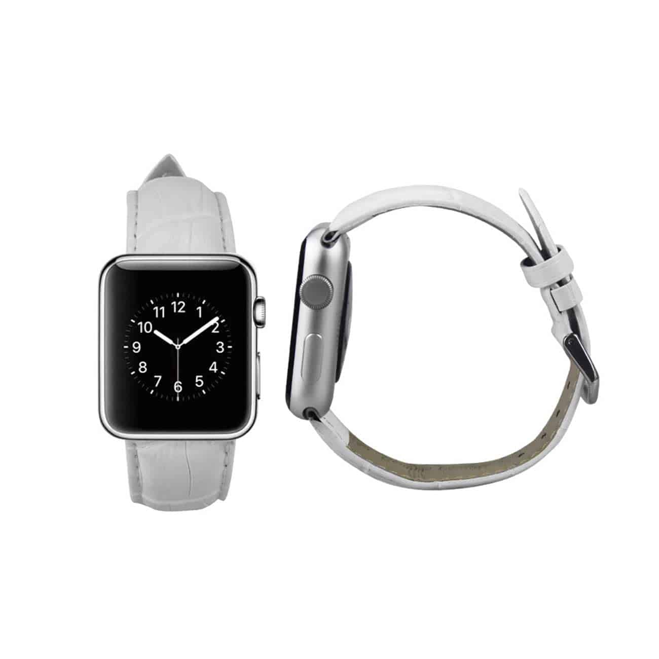 WATCH 42MM GENUINE LEATHER IWATCH BAND STRAP WITHOUT BAND ADAPTORS 38MM IN WHITE