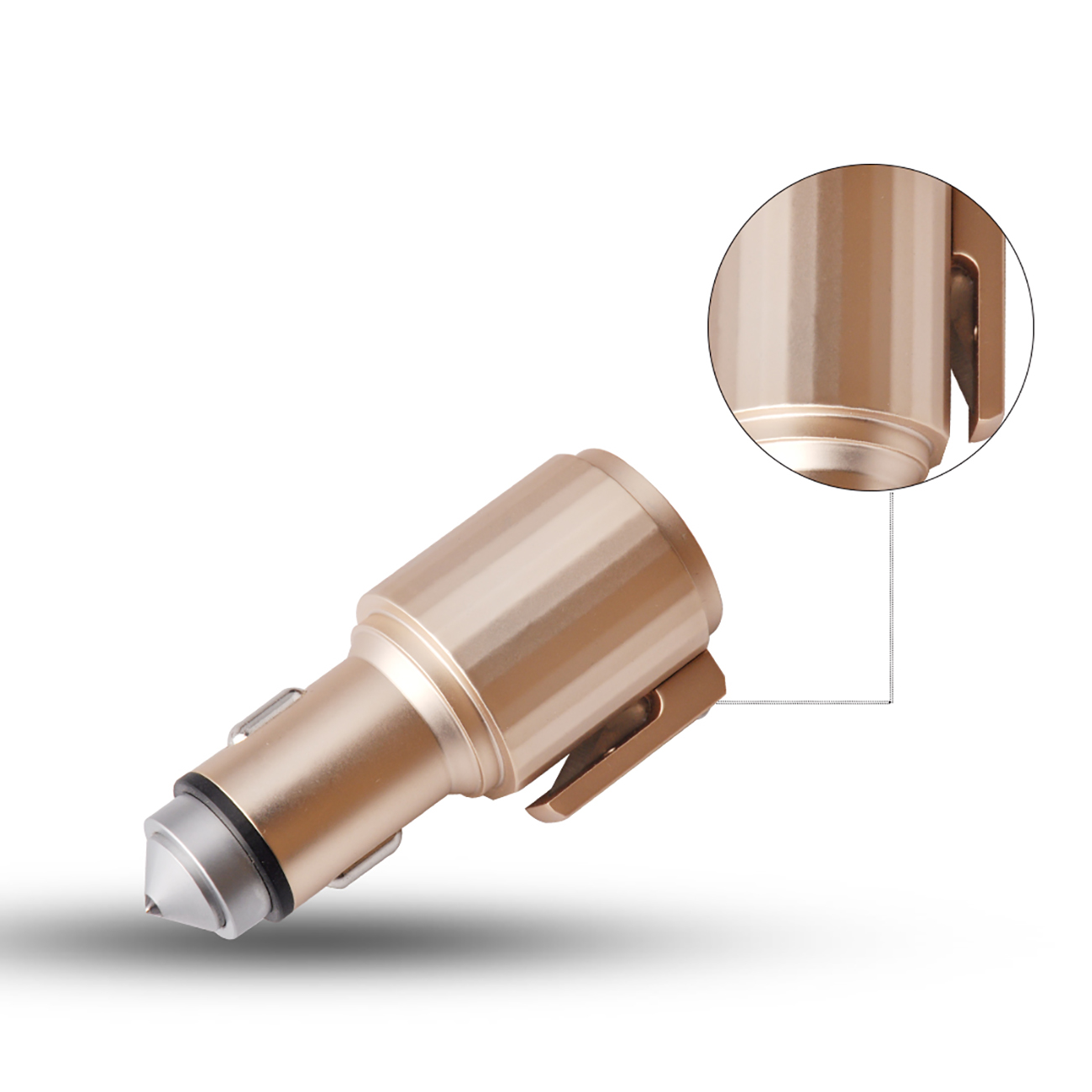 Quick Car Charger, 4.8A Dual USB Fast car charger with Life Guard Charge Technology In Gold