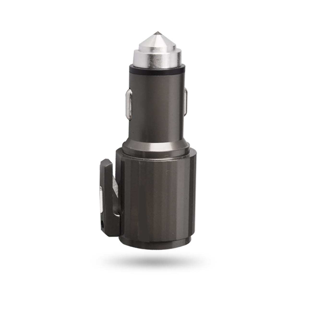 Quick Car Charger, Usb And Type-C Fast Car Charger With Life Guard Charge Technology In Gray