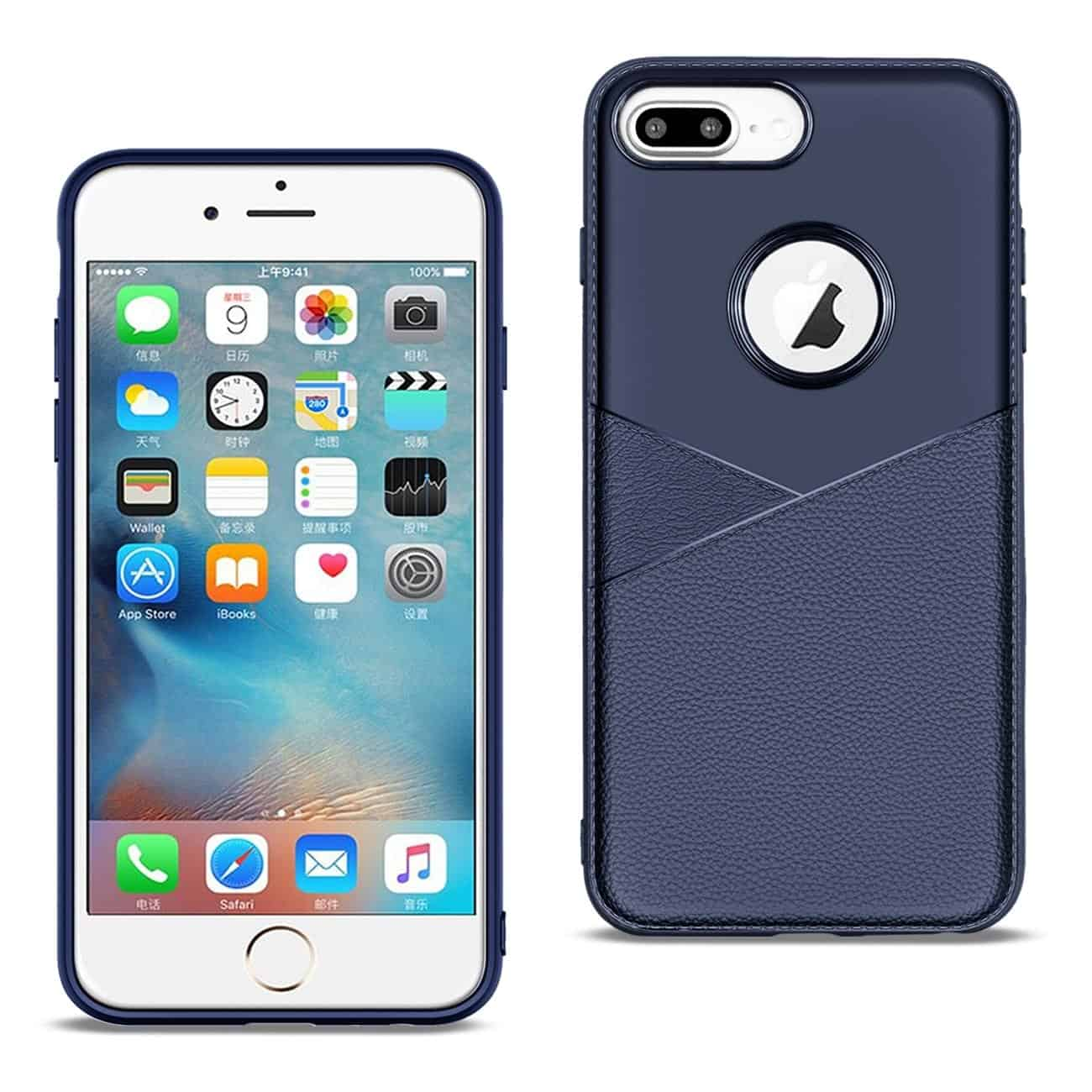 Apple iPhone 8 Plus Good quality phone case in Blue