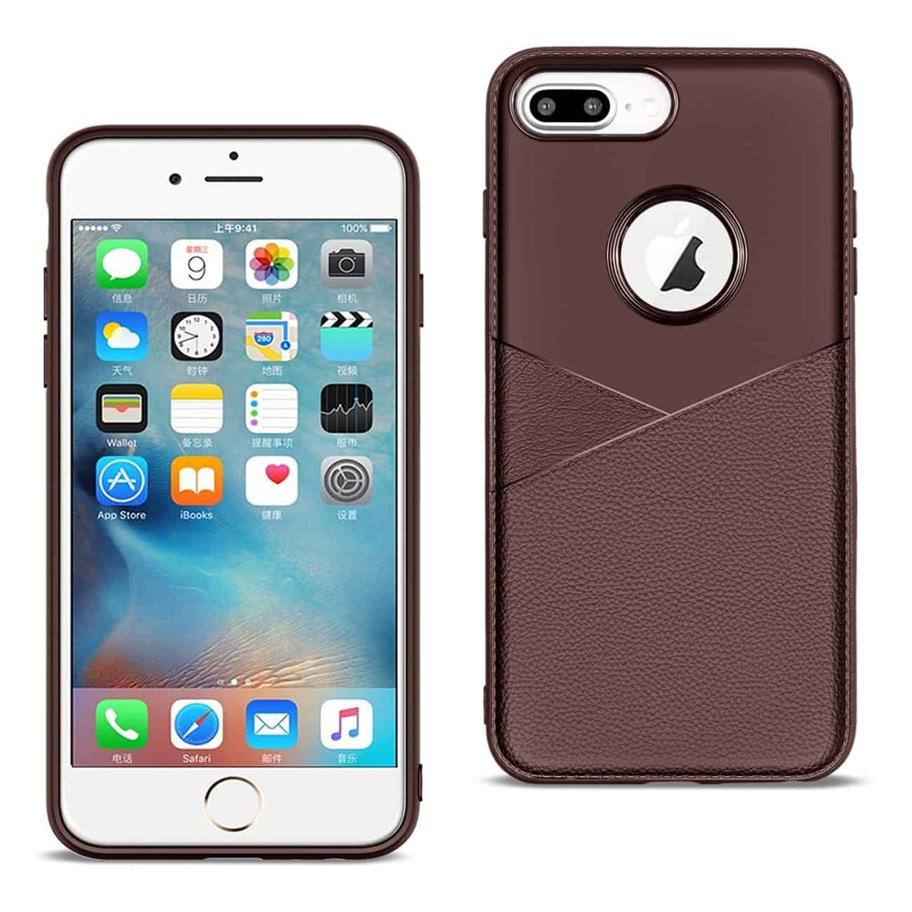 Apple iPhone 8 Plus Good quality phone case in Brown