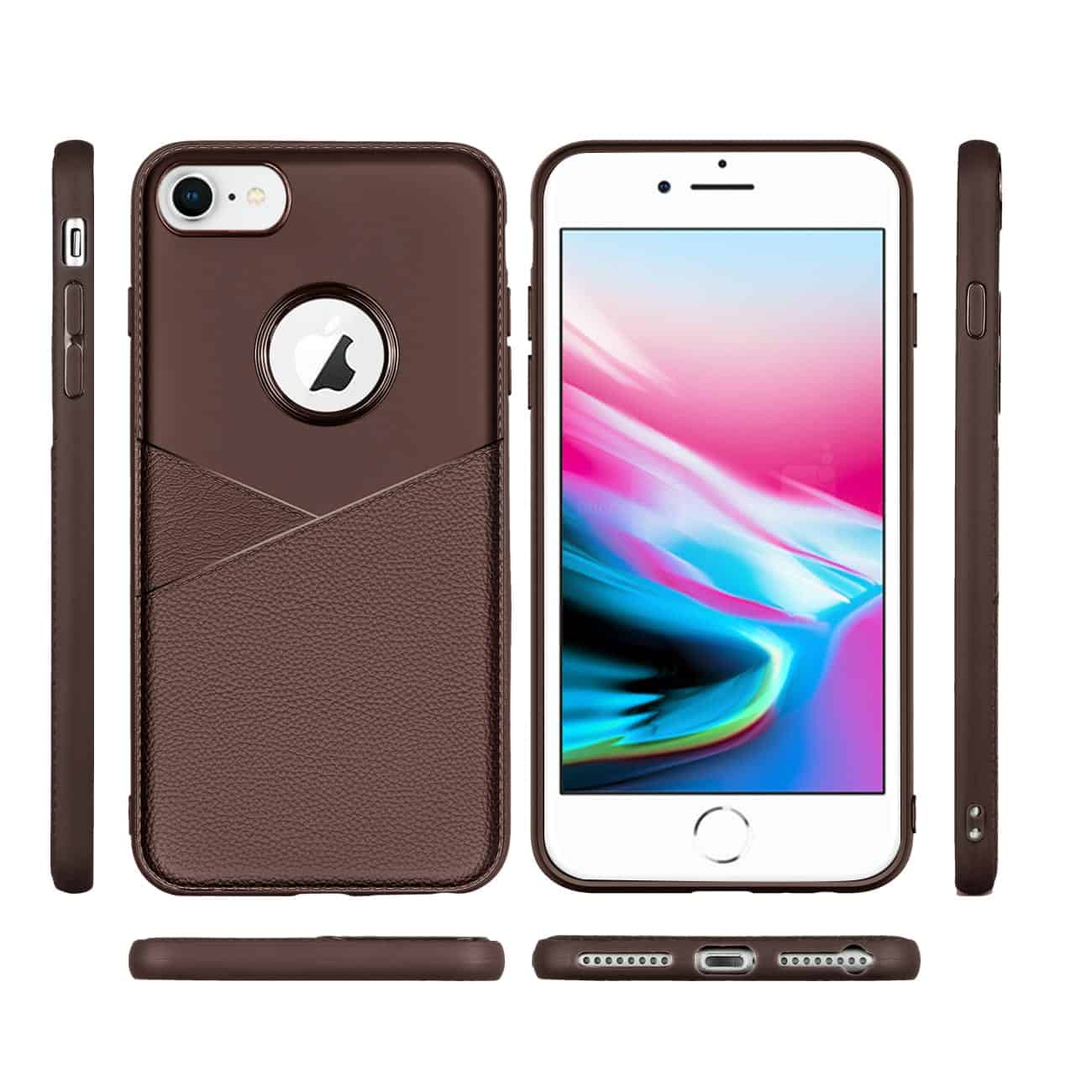 Apple iPhone 8 Good quality phone case in Brown