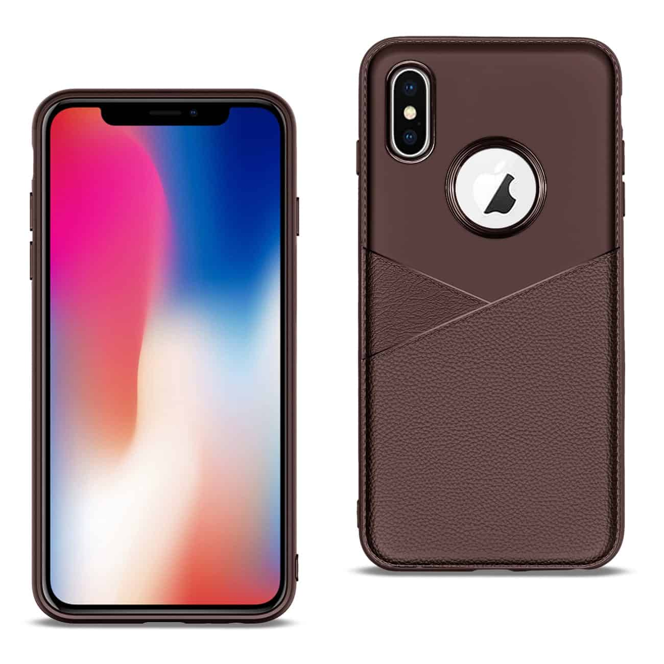 Apple iPhone X Good quality phone case in Brown