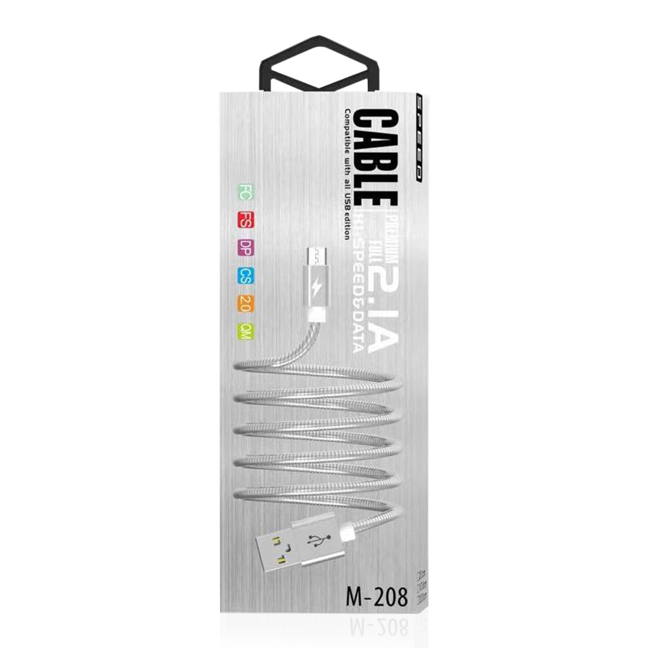 High Speed Micro Data Cable in Silver