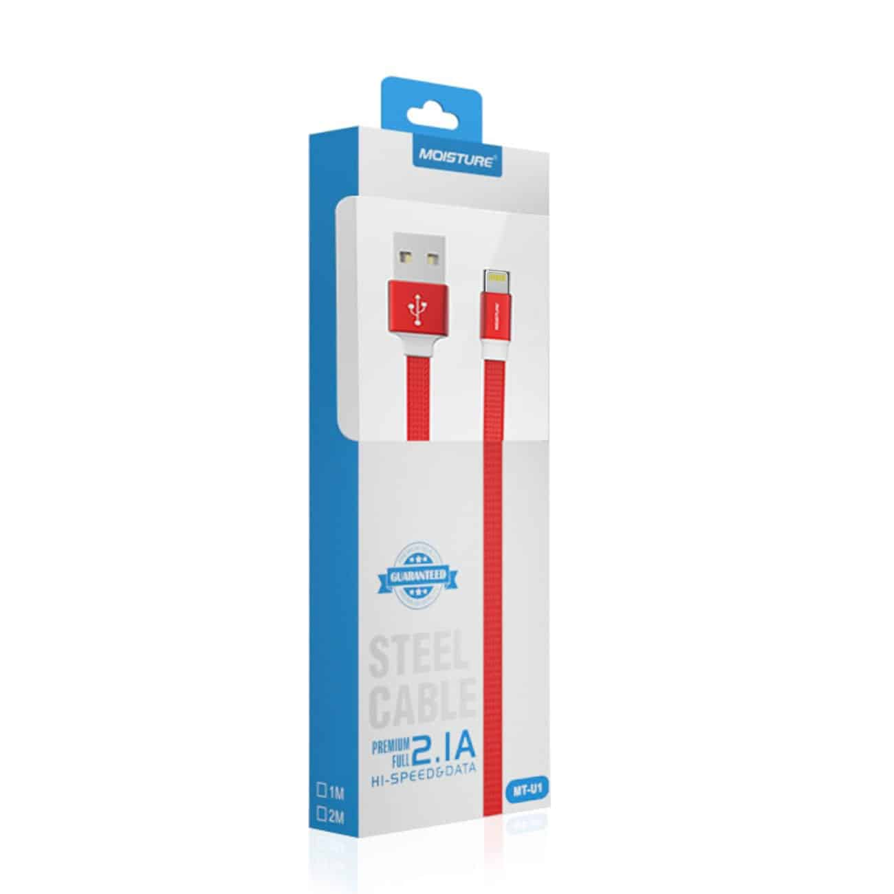High Speed Steel 8 PIN Data Cable in Red