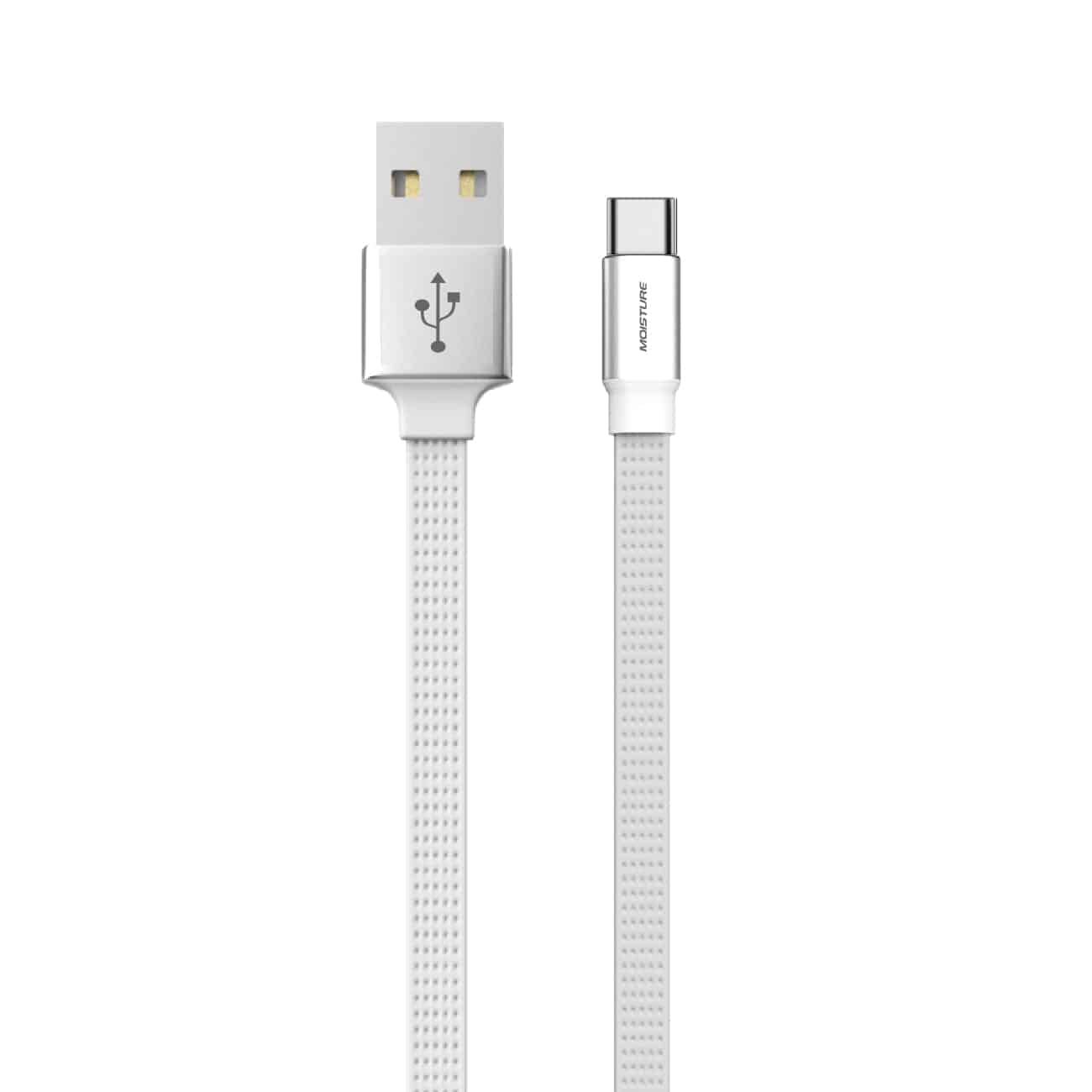 High Speed Type-C Steel Data Cable in White