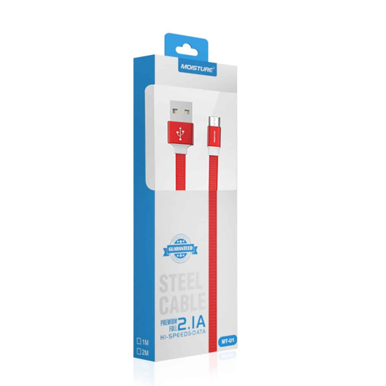 High Speed Micro Steel Data Cable in Red