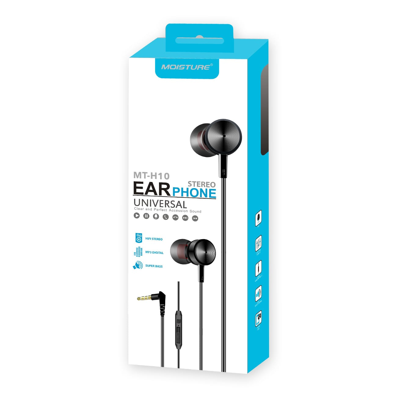 MT-H10 Universal Earphones in Black