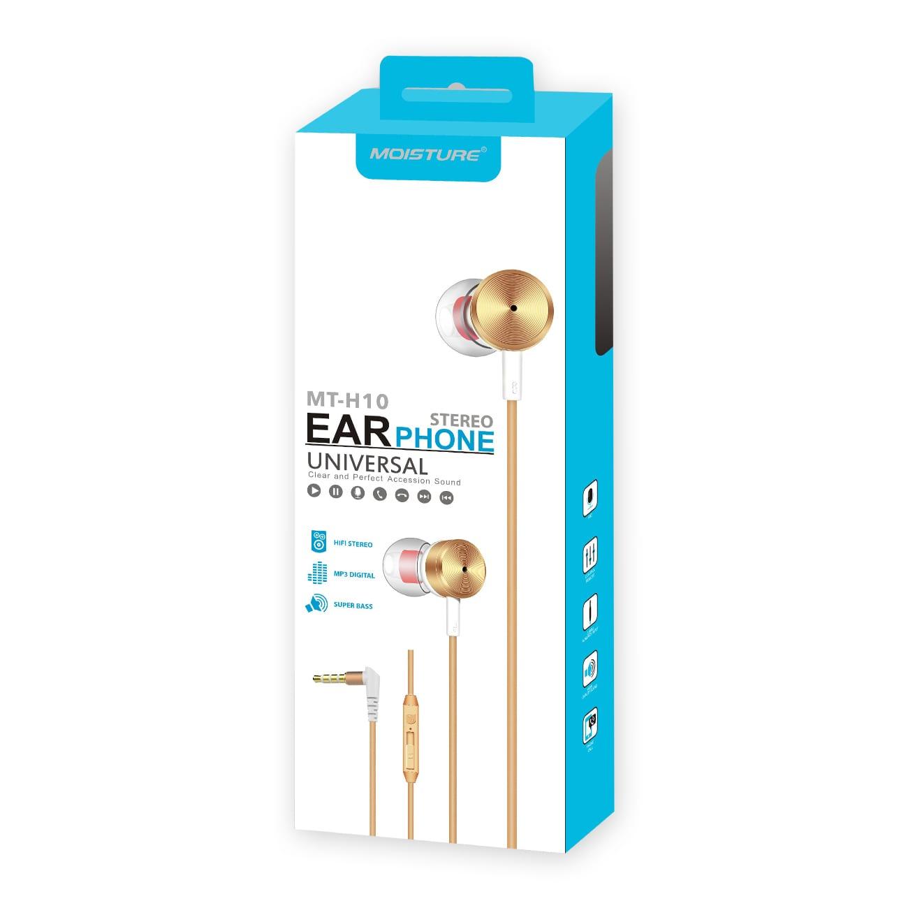 MT-H10 Universal Earphones in Gold