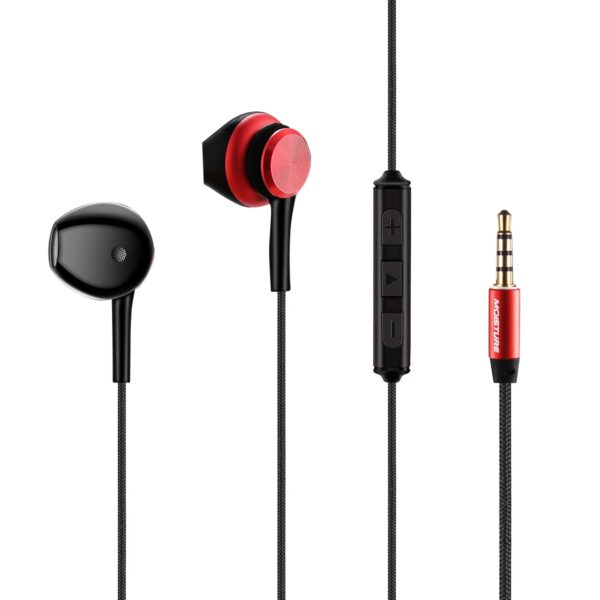 High Quality Sound  Universal In-ear Earphone In Red