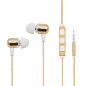 Smart Control Mental earphone in Gold