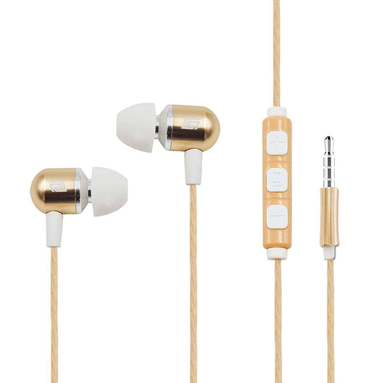 Smart Control Mental earphone in Gold