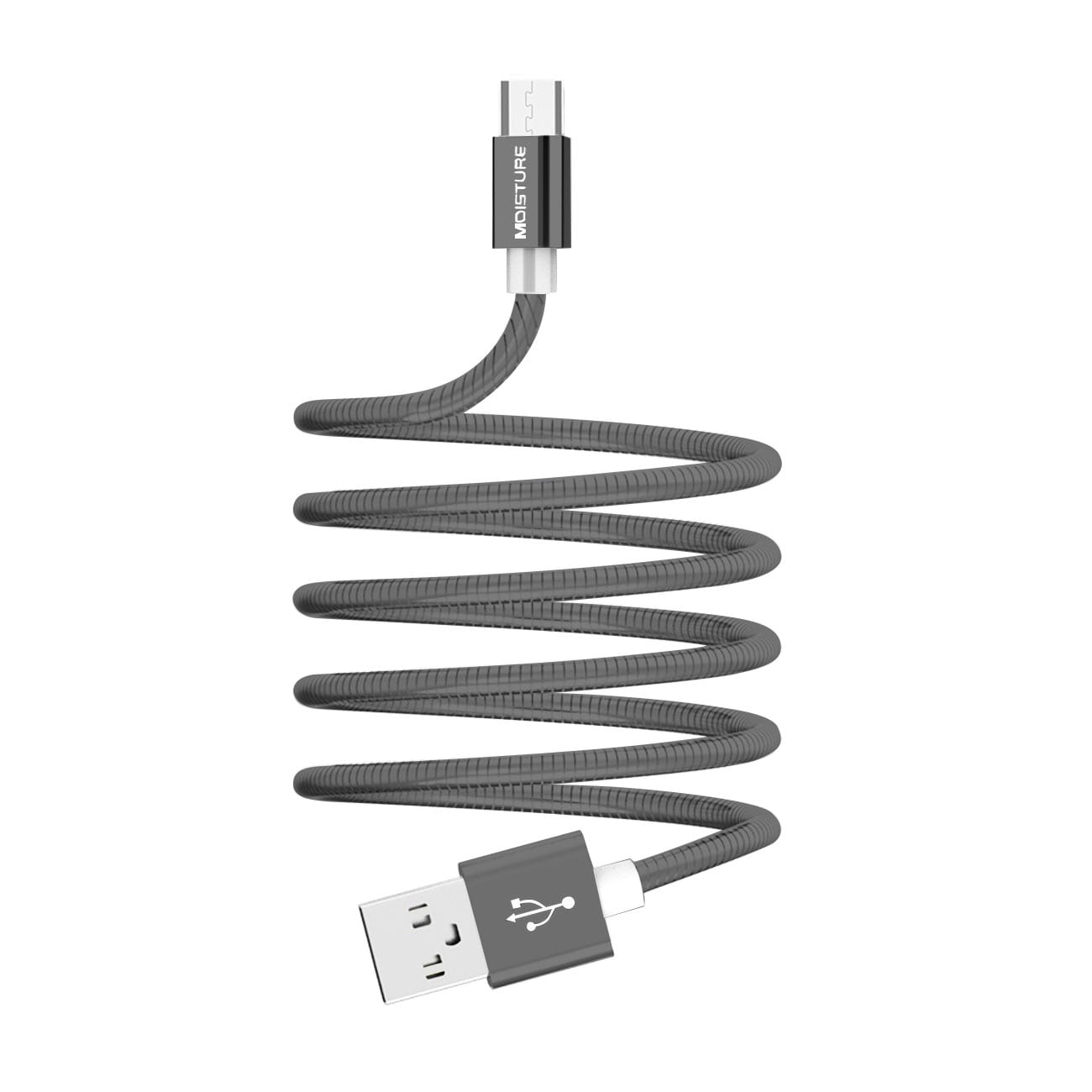 Moisture 2.6A Premium Full Hi-Speed Data Cable In Gray