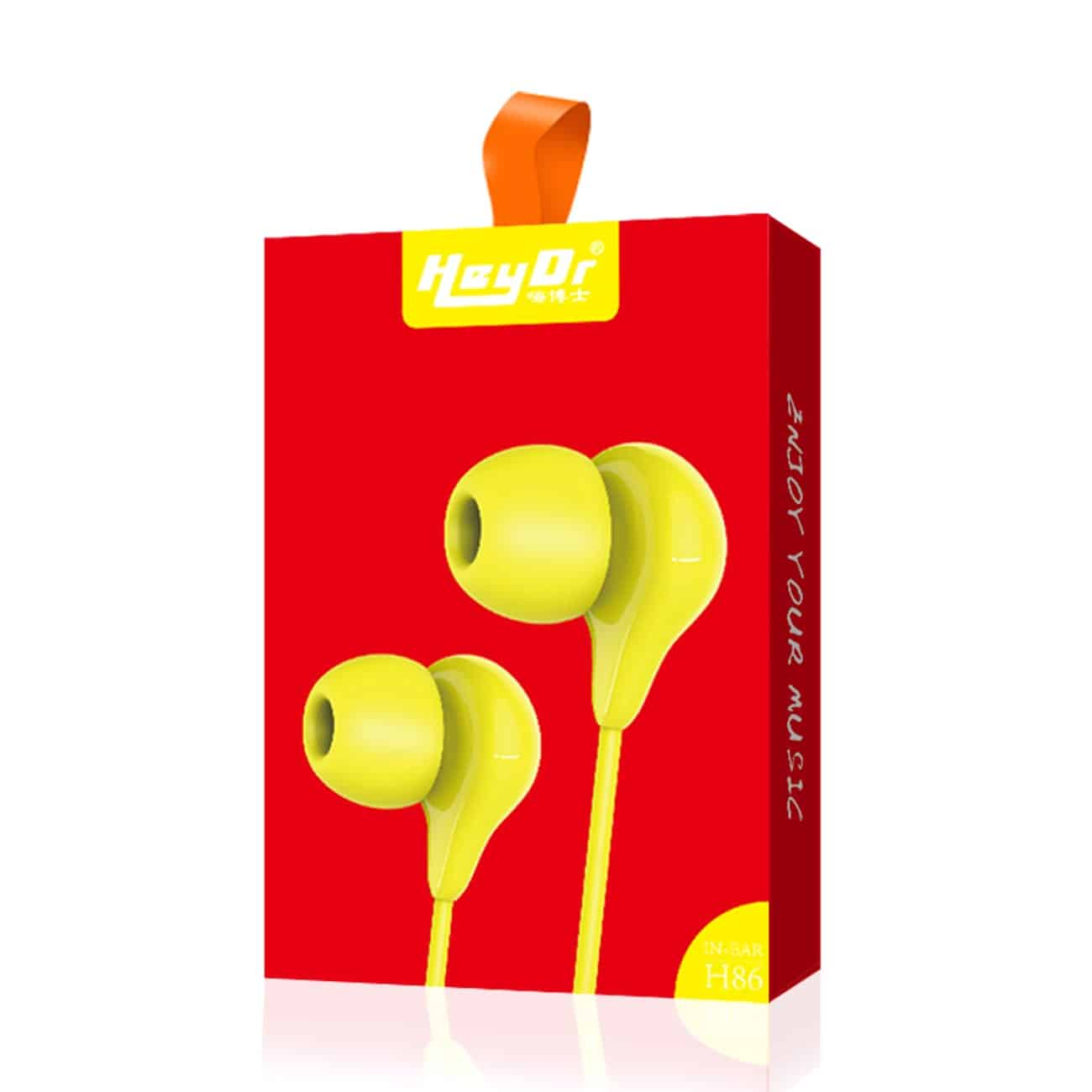 Hey Dr H86 In-Ear headphone in Yellow