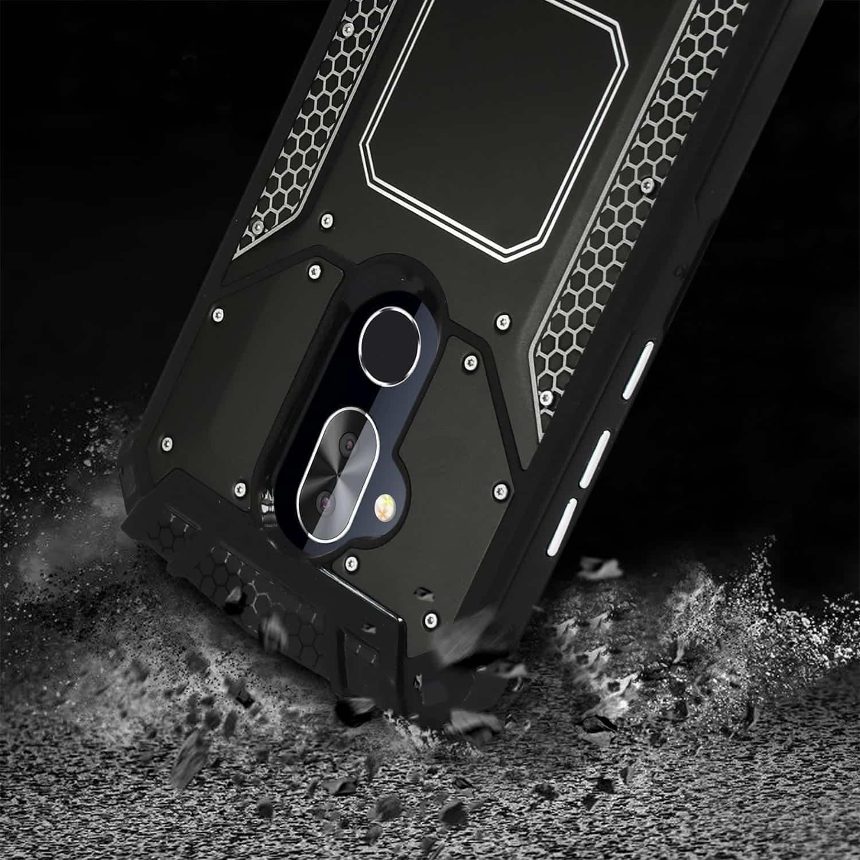 ALCATEL 7 FOLIO Metallic Front Cover Case In Black