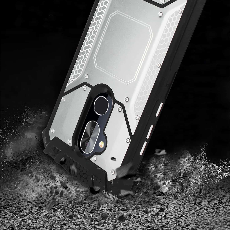 ALCATEL 7 FOLIO Metallic Front Cover Case In Silver