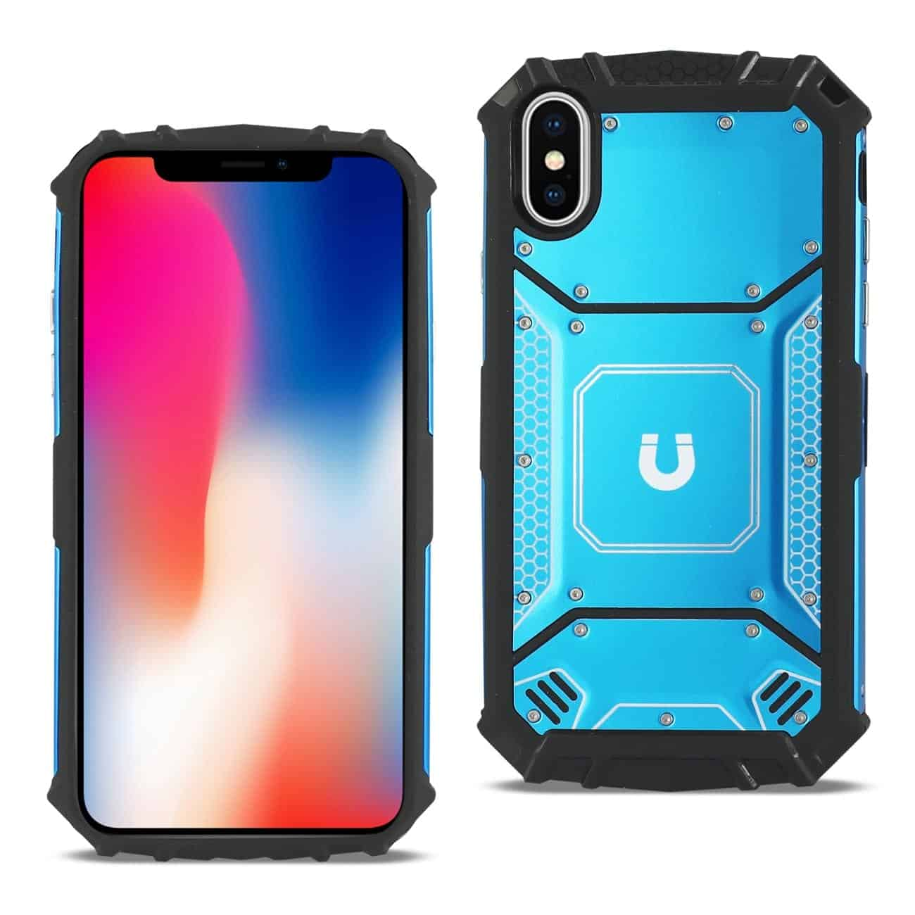 iPhone X/iPhone XS Metallic Front Cover Case In Blue