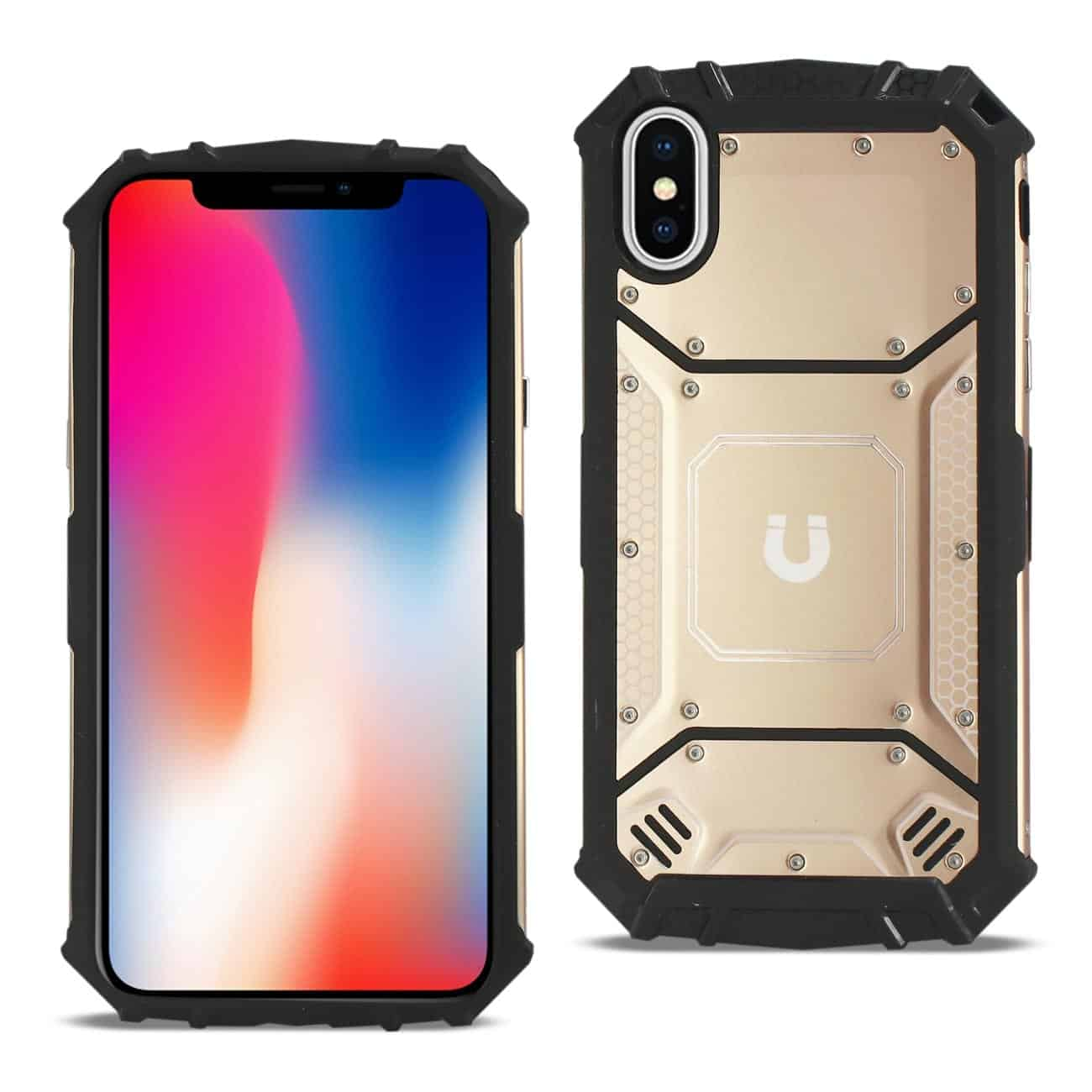 iPhone X/iPhone XS Metallic Front Cover Case In Orange