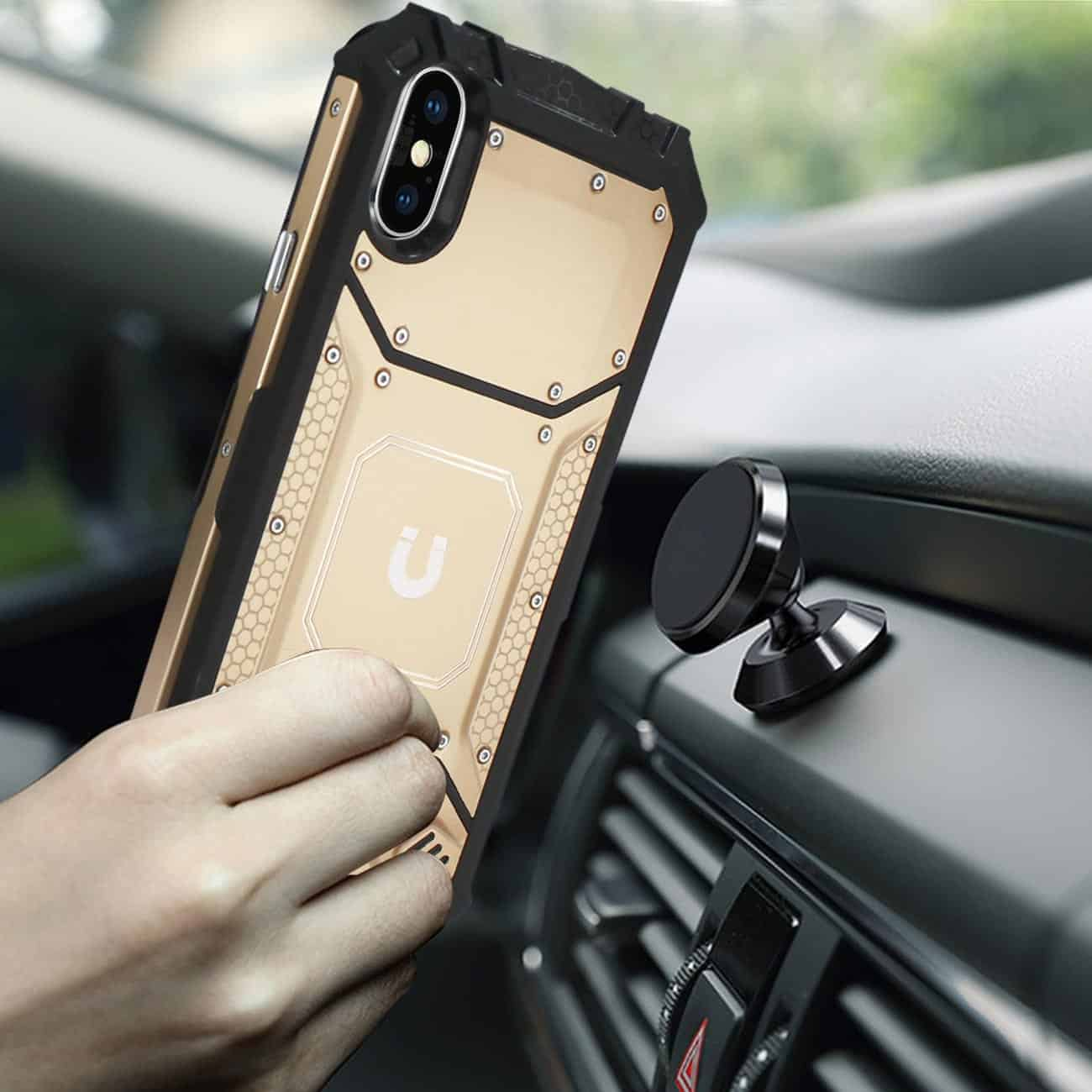 iPhone X/iPhone XS Metallic Front Cover Case In Orange
