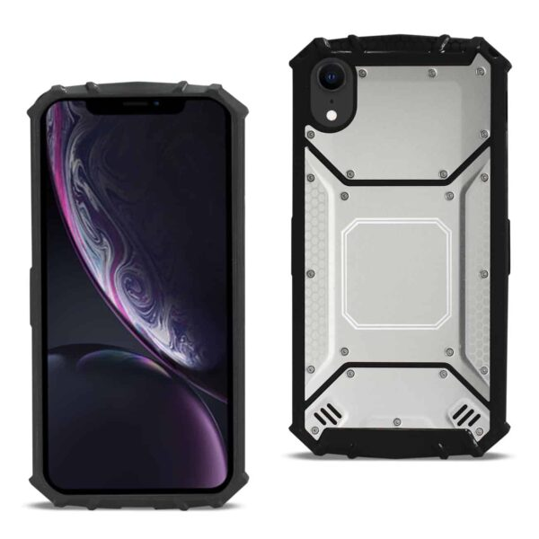 iPhone XR Metallic Front Cover Case In Silver
