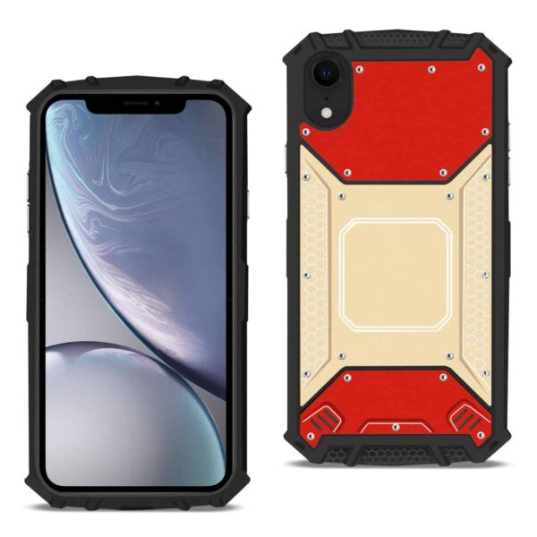 APPLE IPHONE XR Metallic Front Cover Case In Red and Gold