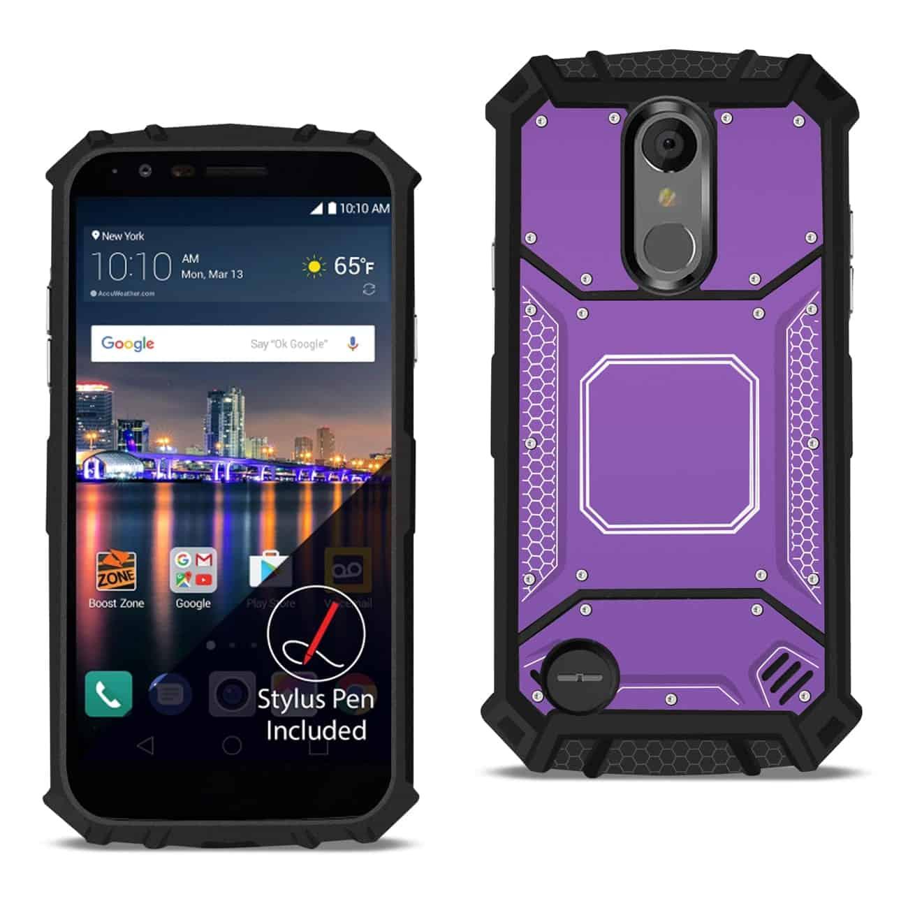 LG ARISTO 3 Metallic Front Cover Case In Purple