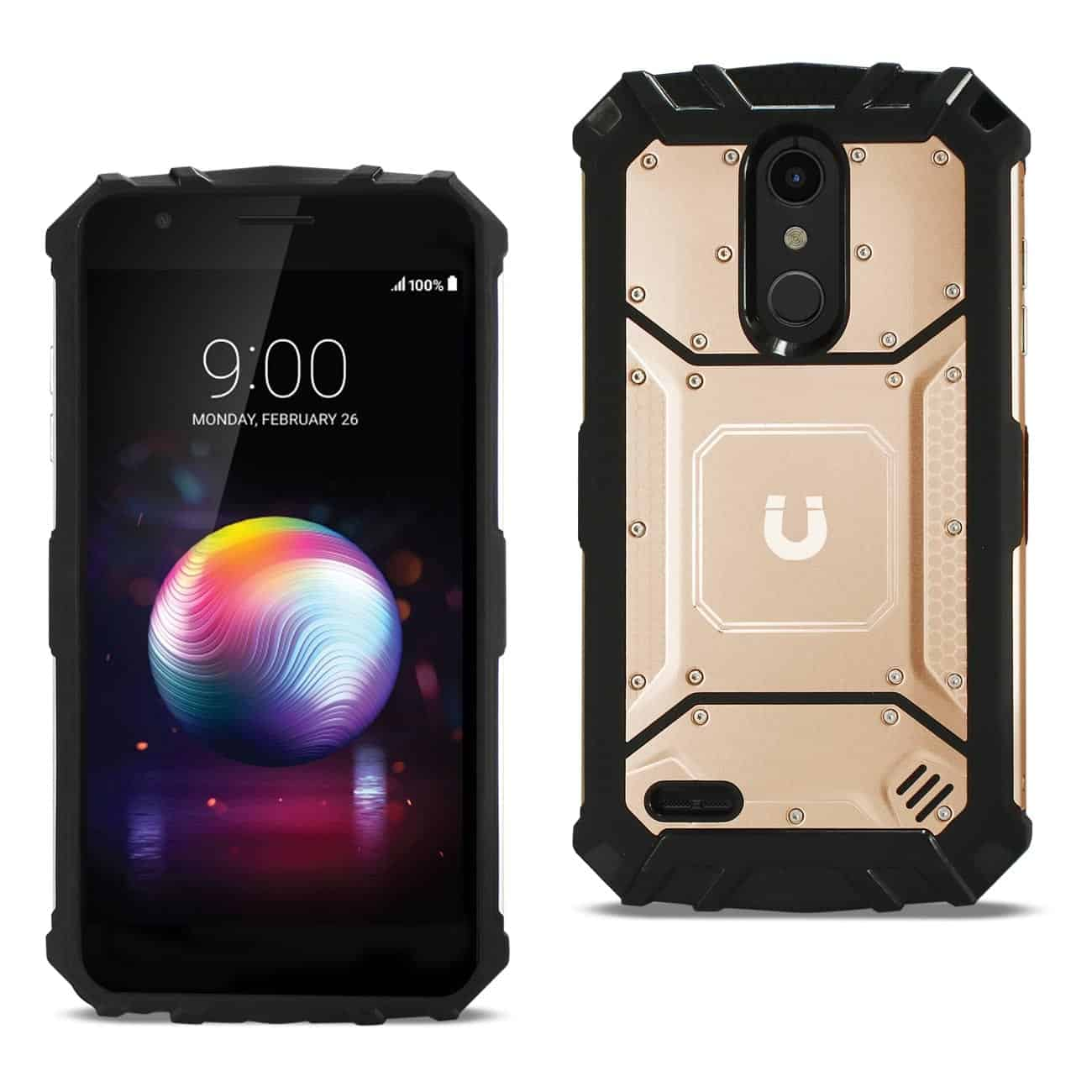 LG K10(2018) Metallic Front Cover Case In Rose Gold