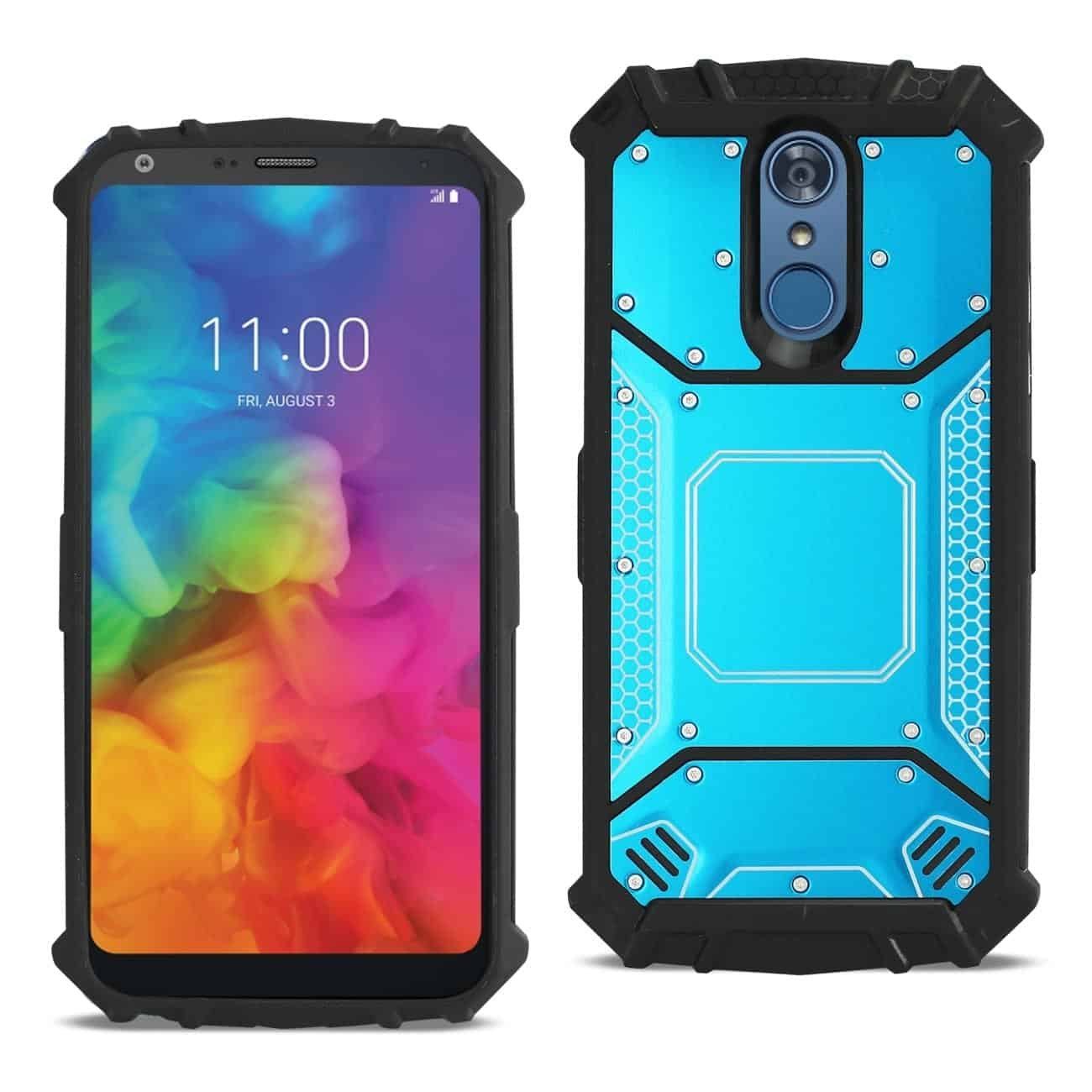 LG Q7 Plus Metallic Front Cover Case In Blue