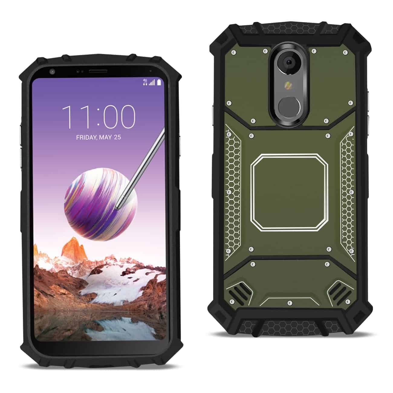 LG STYLO 4 Metallic Front Cover Case In Gray
