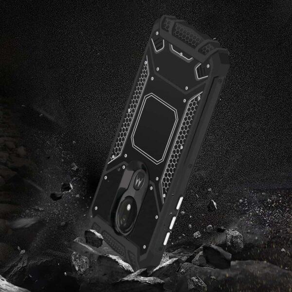 MOTOROLA MOTO G7 POWERMetallic Front Cover Case In Black