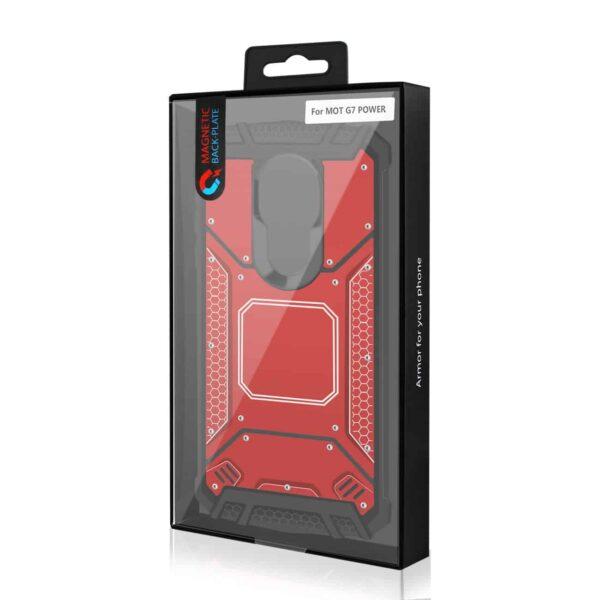 MOTOROLA MOTO G7 POWERMetallic Front Cover Case In Red