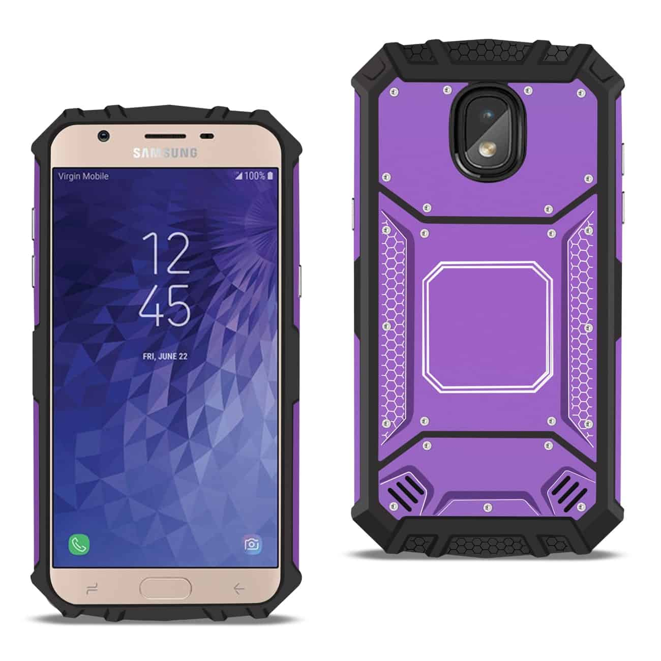 SAMSUNG GALAXY J3 (2018) Metallic Front Cover Case In Purple