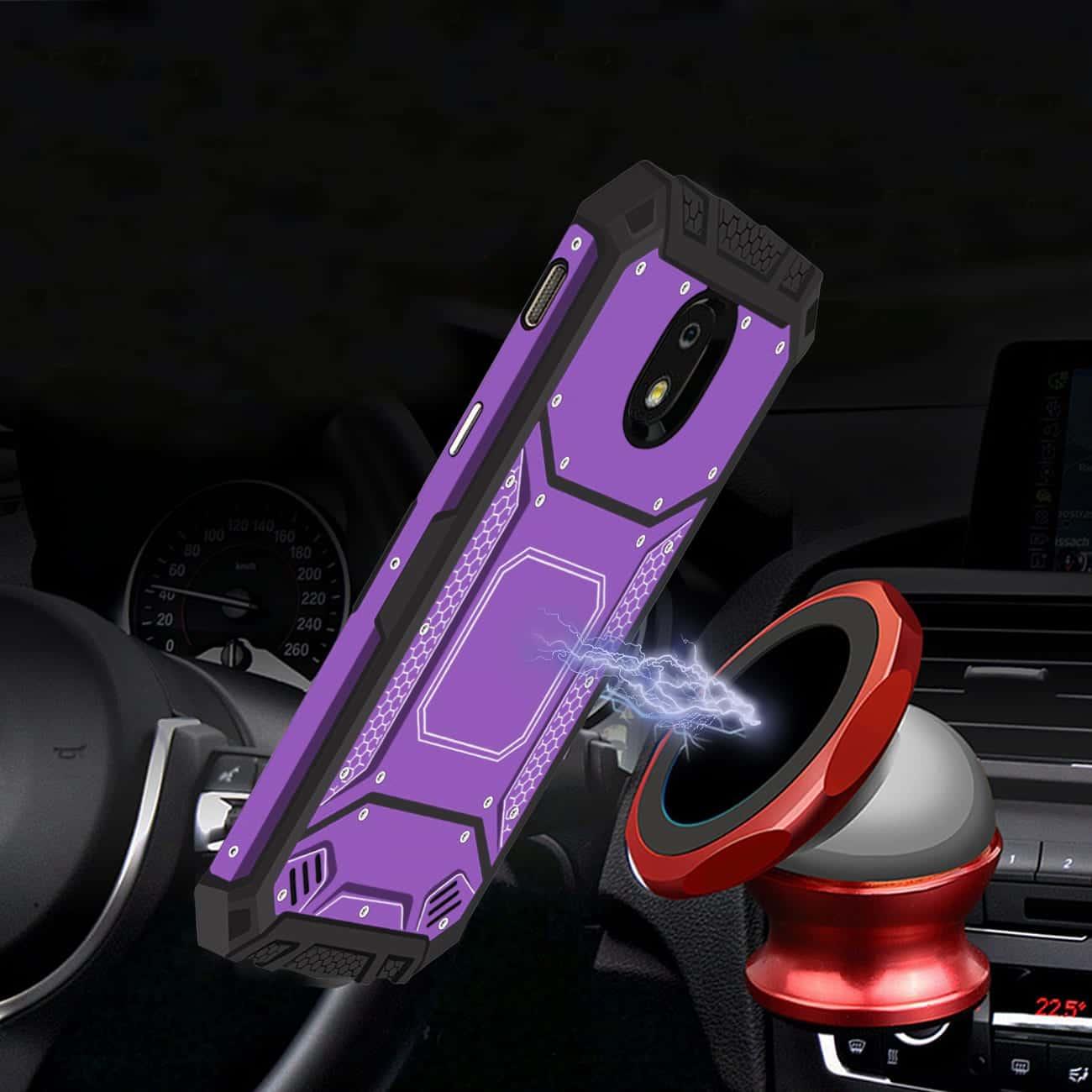 SAMSUNG GALAXY J3 (2018) Metallic Front Cover Case In Purple