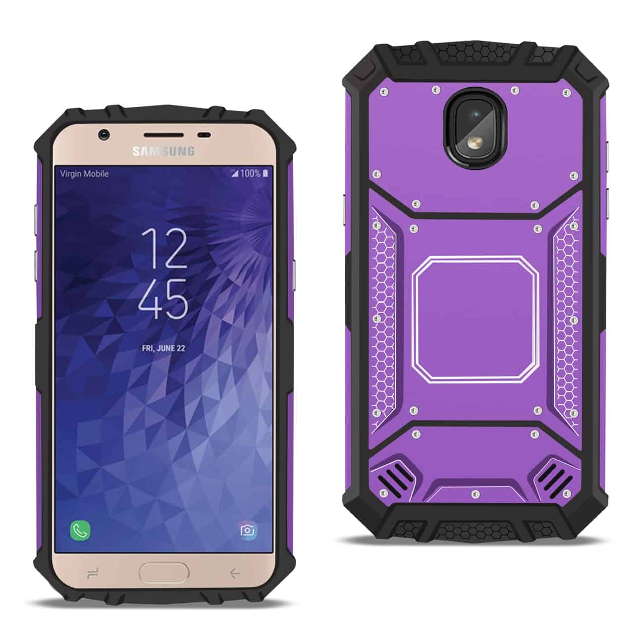 SAMSUNG GALAXY J7 (2018) Metallic Front Cover Case In Purple