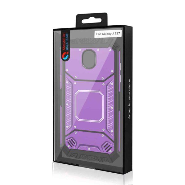 SAMSUNG GALAXY J7 (2018) Metallic Front Cover Case In Purple